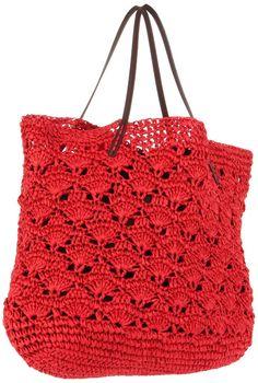 Michael stars lace crochet tote