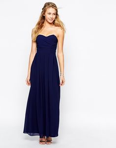 TFNC Maxi Dress With Pleated Bust And Full Lining