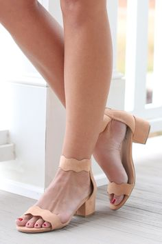 Ahead Of The Curve Blush Pink Ankle Strap Heels at reddressboutique.com