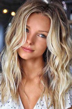 Fresh Summer Blonde Hair Color Highlights for Women 2019 - Hair - Hair Designs Summer Blonde Hair, Blonde Hair Looks, Blonde Hair With Highlights, Brown Blonde Hair, Blonde Color, Hair Color For Black Hair, Blonde Hightlights, Mid Length Blonde Hair, Front Highlights