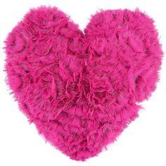LISKA Fur blend heart cushion (410 AUD) ❤ liked on Polyvore featuring home, home decor, throw pillows, pillows, fillers, hearts, pink, pink fillers, pink accent pillows and liska