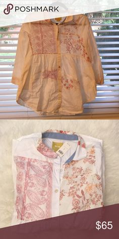 New anthropologie shirt S size Brand new with tag  100% cotton Anthropologie Tops