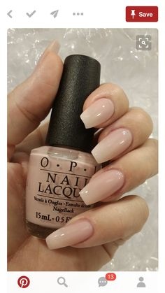 OPI nail polish, nude natural nails