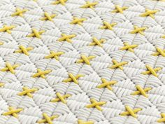 Details we like / Sewing / Cross / Yellow / textile / Pattern / furniture / at…