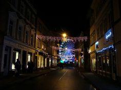 Erfurt, Kettenstraße - Riesenrad auf dem Weihnachtsmarkt