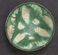 Bowl, 9th–10th century Geography: Iran, Nishapur Persian Palace, Paper Drawing, Middle Ages, Iran, 3 D, Pottery, Turquoise, Personalized Items, Bowls