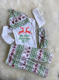 8b981b96b49 My first Christmas first Christmasbaby girl Christmas my My First Christmas  Outfit