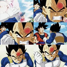 Vegeta and Goku fight because of Pan hitting Vegeta's head lol Goku Y Vegeta, Son Goku, Dbz, Dragon Ball Z, Anime Dad, Ghost Rider Marvel, Special Characters, Cool Posters, Akira