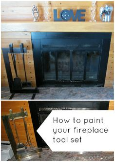 From brass to class.   Paint your brass fireplace accessories a beautiful oil-rubbed bronze. anniehearts.com