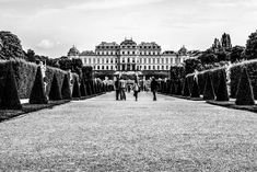 belvedere garden Vienna, Black And White Photography, Street Photography, Documentaries, Louvre, Christian, Building, Garden, Travel
