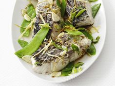 Food Network Magazine's Steamed Fish with Ginger #FNMag #Protein #Veggies #MyPlate