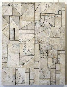 """""""Real Estate"""" by Rosalie Gascoigne   1994 sawn wood on craftboard 72 × 55.5cm"""