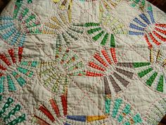 Love this pickle dish quilt made by Molly Flanders