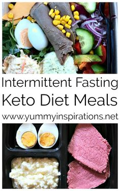 Intermittent Fasting Keto Meals - Ideas for low carb meal plan recipes and inspiration following my own experience of 6 months of 16/8 Intermittent Fasting. #intermittentfasting #ketomeals