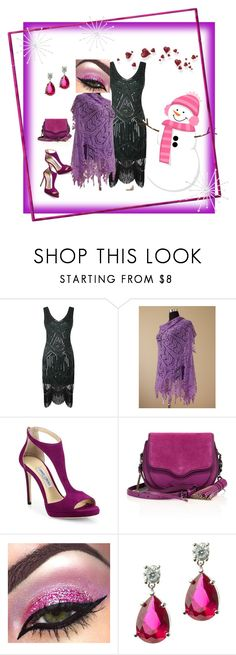 """""""Lovely Lilac"""" by galina-780 on Polyvore featuring Jimmy Choo, Rebecca Minkoff and CZ by Kenneth Jay Lane"""