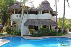 Rosalera in Sayulita, Mexico is a beachfront vacation rental with three bedrooms and is located in a beautiful north side beachfront complex with shared pool