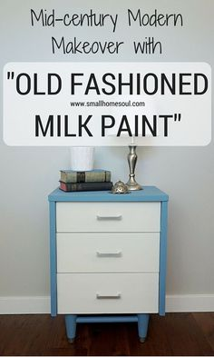 Milk paint can transform a tired, beat up piece furniture into a beautiful and updated piece perfect for any room Upcycled Furniture, Cool Furniture, Painted Furniture, Furniture Ideas, Refinished Furniture, Furniture Movers, Ikea Furniture, Mid Century Modern Dresser, Diy Home Decor Projects
