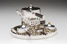 Josef Hoffmann (1870-1956), Wiener Werkstätte, Silver Tea Service.