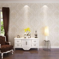 34.91$  Watch here - HANMERO 2017 New Fashion Damask Design Wallpaper Leaf Pattern PVC Wallpaper Golden and Silver Color Bedding Room QZ0398  #buyonlinewebsite