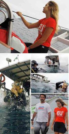 Esportes de Verão: Bianca Salgueiro se encanta com o mergulho no mar