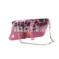 Handbag Style Hard Plastic Case for iPhone 4 Pink,$8.94