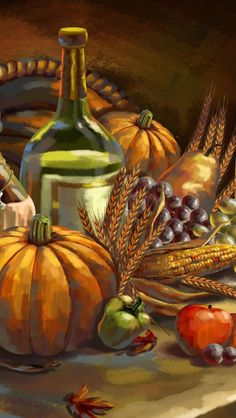 Customize your iPhone 5 with this high definition Thanksgiving Feast wallpaper from HD Phone Wallpapers! Hd Phone Wallpapers, Iphone 5 Wallpaper, Love Painting, Painting & Drawing, Thanksgiving Wallpaper, Thanksgiving Feast, All Holidays, Love Is All, Food Art
