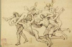 Lefebvre 1717 Altmeisterzeichnung XVIII Feder Bütten Old Master Drawing Antik