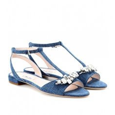 Sandali denim Miu Miu