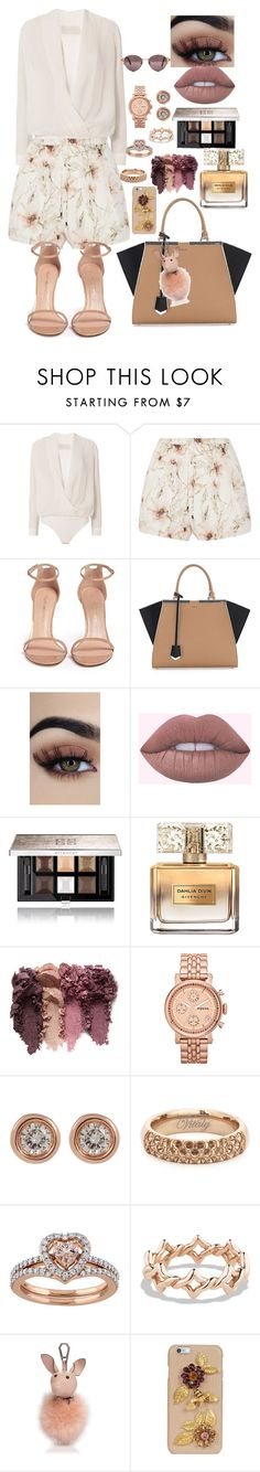 """""""Untitled #211"""" by eloismbemba ❤ liked on Polyvore featuring Michelle Mason, Haute Hippie, Stuart Weitzman, Fendi, Givenchy, FOSSIL, Ron Hami, Vitaly, David Yurman and Kendall + Kylie"""