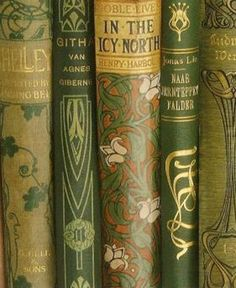 Book Jackets in Green with Gilt Decoration ....
