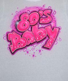 Airbrush Baby Name Style Custom Milennial Neon Pink Black Magenta Raspberry Glow In The Dark T Shirt Hoodie Pillowcase Backpack Pink Painting, Cartoon Painting, Mirror Painting, Cartoon Art, Cooler Painting, Graffiti Drawing, Graffiti Lettering, Graffiti Art, Airbrush Designs