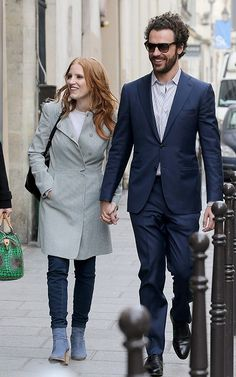 Jessica Chastain and Gian in Paris March 2013