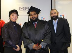 Bodhana with Carey and James. Thank you to James for doing a fine job organising this Graduation Day.