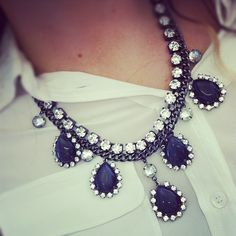 statement necklace @Katie Hrubec Hrubec Schmeltzer Phillips