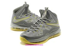 new product 44590 14c34 The superior Nike LeBron 10 X Canary Diamond Grey Yellow Basketball Shoes  online shop for sale at cheap discount. LeBron 10 X is our latest colorway  fusion ...