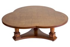 Trefoil Parquetry Top Coffee Table