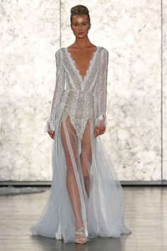 Style 1610 long-sleeved dress by Inbal Dror   NY Bridal Week. Photo: Courtesy of Inbal Dror.  Read More: http://www.insideweddings.com/news/fashion/inside-the-inbal-dror-fallwinter-2016-collection/2505/