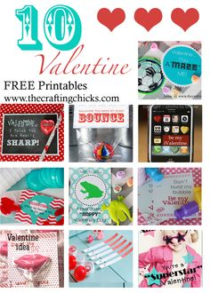 Valentine Printables on www.thecraftingchicks.com