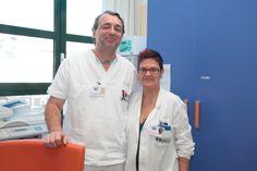 Celestina Corti, la coordinatrice infermieristica, e Massimo Bettinelli, il responsabile del day hospital