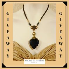 In celebration of our 10 Year Anniversary we are hosting a GIVEAWAY for the gorgeous Victorian Sapphire Inspired Pendant Necklace by Banana Bob.  Visit our Instagram or Facebook Pages to enter.    #Giveaway #contest #jewelrygiveaway #vintage jewelry #2018giveaway #vintagegiveaway #BananaBob #Victorian #VictorianJewelry #Victoriannecklace #sapphire #bluediamond #sapphirenecklace #heartpendant #sapphirependant