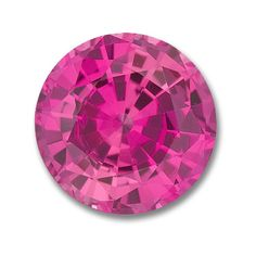 6.5mm Round Gem Quality Chatham Cultured Lab-Grown Pink Sapphire Weighs 1.35-1.60 Ct.