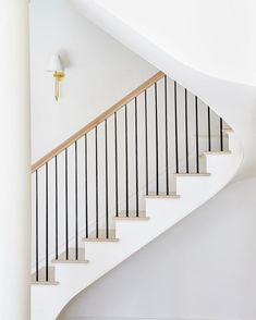 12 Best Stair Handrail Ideas for Home Interior Stairs Metal Stair Railing, Stair Handrail, Staircase Railings, Banisters, Staircase Design, Stairways, Stair Design, Wood Design, Banister Ideas