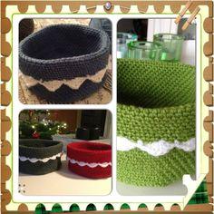 DIY Hæklede kurve Knit Crochet, Knitting, Threading, Creative, Tricot, Breien, Ganchillo, Stricken, Weaving