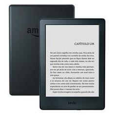 """Kindle Preto com Wi-Fi, 4GB, Tela 6"""" de Alta Definição Sensível ao Toque e Bateria de Longa Duração (8ª Geração)"""