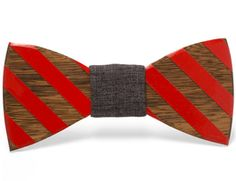"""""""Calvin"""" - Unique handcrafted wooden bow ties made by Two Guys Bow Ties."""