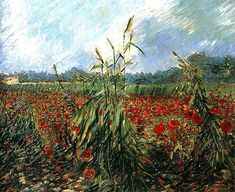 Vincent van Gogh Campo con papaveri, 1888