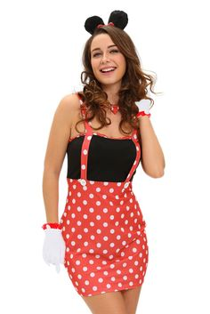Sexy Darling Miss Minnie Mouse Halloween Costume LAVELIQ
