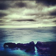 View from my window in Cornwall. Instagram filters are particularly good at showing clouds which is going to be useful down here.#cornwall #clouds #sea. 17th August 2012