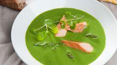 Aspargessuppe med spinat og røget laks | Opskrift til en sund kost