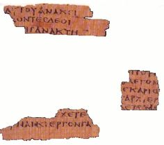 """Papyrus 64: """"The """"Magdalen"""" papyrus was purchased in Luxor, Egypt in 1901 by Reverend Charles Bousfield Huleatt (1863–1908), who identified the Greek fragments as portions of the Gospel of Matthew (Chapter 26:23 and 31)."""" 2nd/3rd century"""